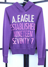 American Eagle Purple Pull Over Woman's Sweater Size XS Classic 1977 Graphic