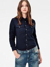 G-STAR RAW blue shirt TACOMA STRAIGHT camicia camicetta donna blu M (S) BNWT