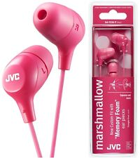 JVC HA-FX38-P PINK Marshmallow In-Ear Tangle-Free Stereo Earphones / Brand New