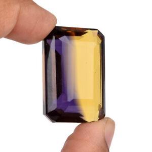 Loose Dual Color Ametrine 83.25 Ct. Fine Emerald Cut Gemstone For Pendant BE-042