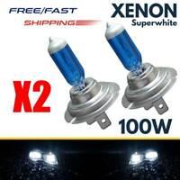 2x H7 12V 100W 6000K Xenon Gas Halogen Headlight White Bright Light Lamp Bulbs
