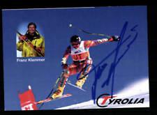 Franz Klammer Autogrammkarte Original Signiert Skialpin + A 212098