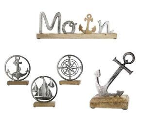 maritime Deko Holz Anker Schiff Windrose Kompass Moin Meer Strand Baddeko