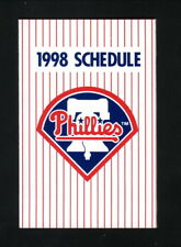 Philadelphia Phillies--1998 Pocket Schedule--Bell Atlantic Mobile