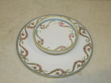 Vintage Nippon Hand Painted Chip and Dip Party Server VFC