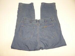 Schmidt Men Work Wear Flannel Lined Jeans W36 x L32 RN 130893 Pants Blue