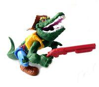 Leatherhead Vintage TMNT Teenage Mutant Ninja Turtles Action Figure w/ Gun 1990