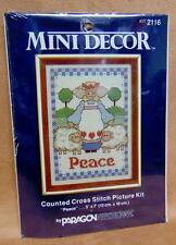 """Mini Decor Counted Cross Stitch """"Time With Children"""" by Paragon Needlecraft New"""