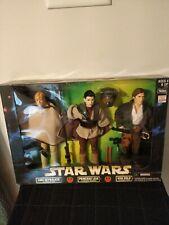 "Star Wars 12"" Figures, Luke-Tatooine, Leia-Boushh, Han-Bespin; 1998 Hasbro"
