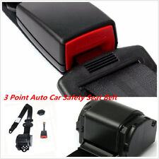 Universal Retractable 3 Point Auto Car Safety Seat Belt Iron Buckle Black