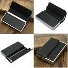 Fashion Men Black Pocket Leather Business Name ID Credit Card Holder Wallet Case