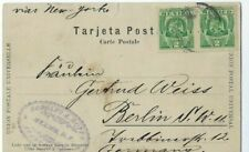 1907 Mexico PPC to Berlin Germany, Early Street View Horse & Buggys Merchants