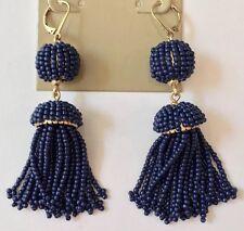 J.Crew Factory Beaded Tassel Drop Earrings Sold Out!New$29.50 DARK COVE