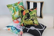 """Art watercolor Green Black Home Decor CUSHION COVER Throw PILLOW 18"""" in out Door"""