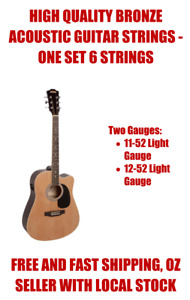 Two Sets of Acoustic Guitar String Set Strings 11-52 12-53 Free Pick Each Set