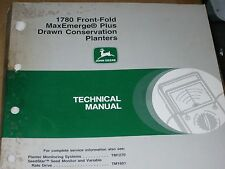 John Deere Technical Manual for 1780 Front Fold MaxEmerge plus drawn con.planter