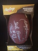 Rawlings Composite Leather Football Autographed by Minnesota Vikings Players