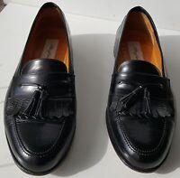 Mezlan Mens SANTANDER Classic Kiiltie Tassel Slip On Leather Shoes SZ 10.5-Black
