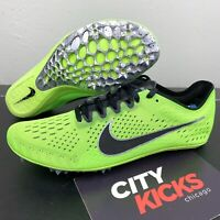 New Nike Zoom Victory Elite Sz 10.5 Lime Neon Green Track Field Spike 835998 300