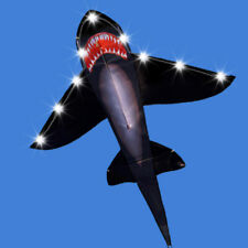 1.55m NEW Black LED Shark Kite Single Line Noctilucent Kite outdoor fun toys