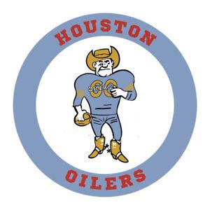 AFL Houston Oilers 1960 Logo Mens 1/4 Zip Sweatshirt XS-4XL, LT-4XLT New