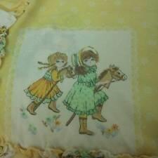 Sunbonnet Girls Yellow Pillow Sham Ruffles Vintage