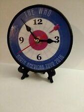 The Who - 5 Inch Quartz Desktop Clock- - Free Gift Box & Stand