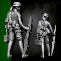 YUFAN Model 1/35 Zweiten Weltkrieg weibliche Maschinengewehrschütze Soldat U4S9