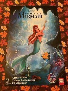 DISNEY Little Mermaid SIGNED 2019 NYCC Comic Con EXCLUSIVE POSTER Art Print RARE