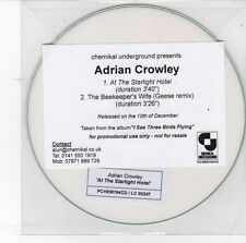 (DS868) Adrian Crowley, At The Starlight Hotel - DJ CD