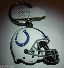 INDIANAPOLIS COLTS Keychains Officially Licensed NFL 3-D PVC Football Helmet