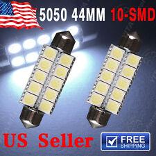 2X Cool White 44mm 10SMD Festoon Led Dome Door Map Light 6411 214-2 211-2 212-2