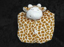 Angel Dear Brown Yellow Cream Giraffe Soft Lovey Baby Security Blanket 12""