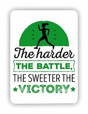 The Harder The Battle The Sweeter Workout GYM FITTNESS METAL SIGN PLAQUE Poster