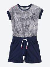 Vestidos de niña de 2 a 16 años de manga corta azul de 100% algodón