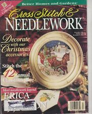 Cross Stitch & Needlework Dec 1996 12th Annual Christmas Plate Issue & Much More