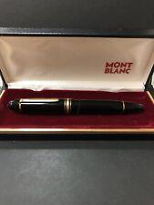 Authentic MONTBLANC   MEISTERSTUCK 149 Black 14k Gold Nib fountain pen R25