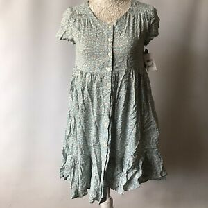 Polo Ralph Lauren Girls Dress Blue Floral Short Sleeve Bought from Macy's Age 14