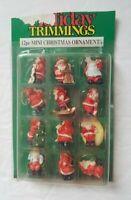 Vintage Mini Christmas Ornament Lot of 12 - Santa