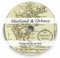 Rare Books on DVD Orkney Shetland Islands History Celtic Gaelic Scotland Lore 44