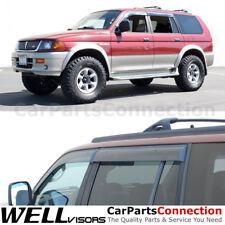 WellVisors Window Visors 00-04 Mitsubishi Montero Sport Side Deflectors