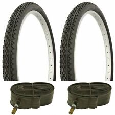 "2 BLACK 20x2.125"" BEACH CRUISER BIKE XXXX  TIRES/ TUBES fits SCWHINN s2 rim"