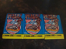 1991 Topps Desert Storm---Series-1 Packs---1st Printing---Brown Shield--Lot Of 3