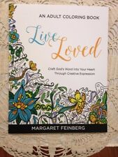 """NEW """"LIVE LOVED"""" ADULT RELIGIOUS COLORING BOOK, with JOURNALING PAGES!"""