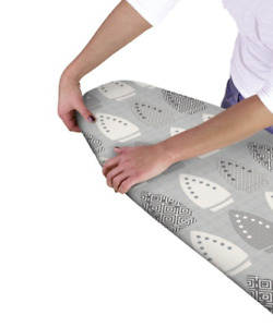 Ironing Board Cover Elasticated Easy Fit Double Layer Heat Reflective Backing