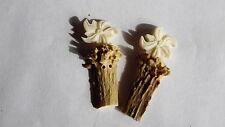 Reversknöpfe Knöpfe mit Edelweiß 2 aus Hirschhorn