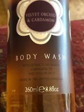 BRAND NEW VELVET ORCHID & CARDAMOM BODY WASH THE BATH HOUSE 260ML FROM CUMBRIA