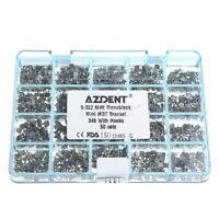 50 Sets Dental Orthodontic Metal Brackets Monoblock MIM Mini MBT.022 Hooks 3-4-5