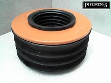 """uPVC Waste to Soil Adapter Cap Pipe Reducer 110mm 4"""" to 50mm 2"""" Underground"""