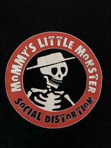 SOCIAL DISTORTION Vintage 90s Rare Long Sleeve Black T shirt M Mommy's Monster